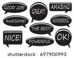 expressing bubble doodle set.... | Shutterstock .eps vector #697900993