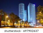 night city  azrieli center ... | Shutterstock . vector #697902637