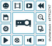music icons set. collection of... | Shutterstock .eps vector #697912747