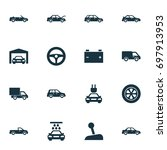 auto icons set. collection of... | Shutterstock .eps vector #697913953