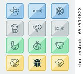 zoology icons set. collection... | Shutterstock .eps vector #697914823