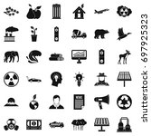 care of ecology icons set.... | Shutterstock .eps vector #697925323