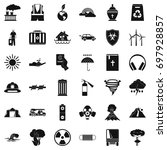 natural disaster icons set....   Shutterstock .eps vector #697928857