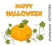 happy halloween.  cartoon... | Shutterstock . vector #697937083
