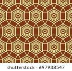 hipster background. geometric... | Shutterstock .eps vector #697938547