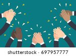 hands of business people... | Shutterstock .eps vector #697957777
