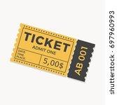 ticket icon vector illustration ... | Shutterstock .eps vector #697960993