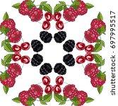 fruit decorative frame. organic ...