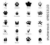 Black Footprints Shapes Of...