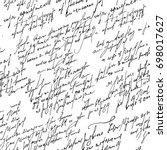 handwritten abstract text... | Shutterstock .eps vector #698017627
