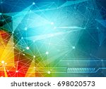 abstract technology background | Shutterstock .eps vector #698020573