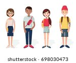 young people illustration | Shutterstock .eps vector #698030473