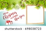 merry christmas happy new year... | Shutterstock .eps vector #698038723