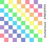 rainbow on white. rainbow... | Shutterstock .eps vector #698039593