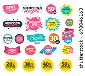 sale shopping banners. sale... | Shutterstock .eps vector #698046163