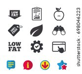low fat arrow icons. diets and...
