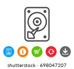 hdd icon. hard disk storage...