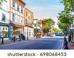 bar harbor  usa   june 8  2017  ... | Shutterstock . vector #698068453