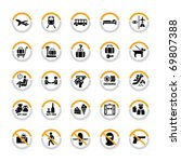 airport and tourism pictogram...