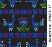 tribal indian american seamless ... | Shutterstock .eps vector #698078467