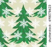 vector of new year seamless... | Shutterstock .eps vector #698078623
