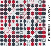 seamless floral pattern with... | Shutterstock .eps vector #698089387