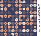 seamless floral pattern with... | Shutterstock .eps vector #698089423