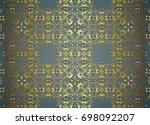 vintage pattern backgrounds for ... | Shutterstock .eps vector #698092207