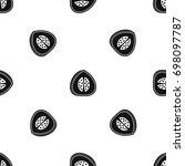 watermelon pattern repeat... | Shutterstock .eps vector #698097787