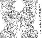 ethnic seamless pattern  black... | Shutterstock .eps vector #698098393