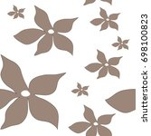 seamless pattern with tan... | Shutterstock .eps vector #698100823