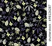 cute seamless floral pattern. ...   Shutterstock .eps vector #698126287