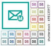 archive mail flat color icons... | Shutterstock .eps vector #698135977