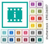 movie information flat color... | Shutterstock .eps vector #698136007