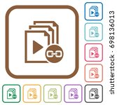 link playlist simple icons in... | Shutterstock .eps vector #698136013