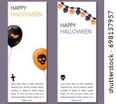 set of cartoon halloween... | Shutterstock .eps vector #698137957