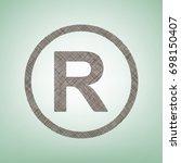 registered trademark sign.... | Shutterstock .eps vector #698150407