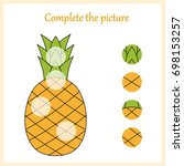 worksheet. complete the picture ... | Shutterstock .eps vector #698153257