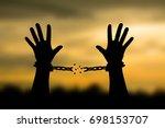 human shadow image of human... | Shutterstock . vector #698153707