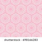 decorative seamless geometric...   Shutterstock .eps vector #698166283