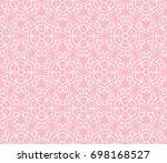 decorative seamless geometric...   Shutterstock .eps vector #698168527