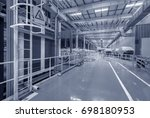 production line of automobile... | Shutterstock . vector #698180953