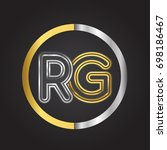 rg letter logo in a circle.... | Shutterstock .eps vector #698186467