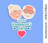 abstract happy grandparents day ... | Shutterstock .eps vector #698219863