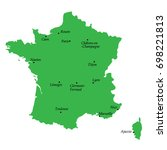 map of france with main cities | Shutterstock .eps vector #698221813
