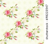 seamless floral pattern with...   Shutterstock .eps vector #698223547