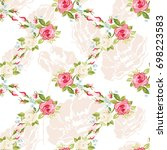 seamless floral pattern with...   Shutterstock .eps vector #698223583