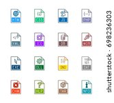 file type icons  websites and... | Shutterstock .eps vector #698236303