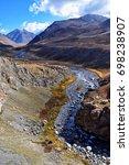 Small photo of beautiful mountain river view in tibet during holy kora around mountain Kailash
