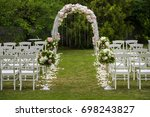 wedding ceremony placed in the... | Shutterstock . vector #698243827